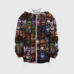 Детская 3D-куртка с капюшоном с принтом Five Nights At Freddy's, цвет: 3D-белый, артикул: 10211264305458 — фото 1