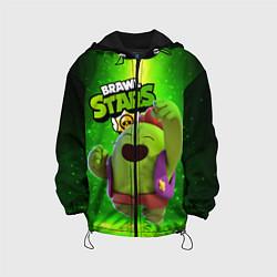 Куртка 3D с капюшоном для ребенка Brawn stars Spike Спайк - фото 1