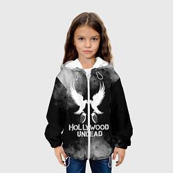 Детская 3D-куртка с капюшоном с принтом Hollywood Undead, цвет: 3D-белый, артикул: 10213544105458 — фото 2