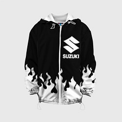 Детская 3D-куртка с капюшоном с принтом SUZUKI 10, цвет: 3D-белый, артикул: 10222670105458 — фото 1