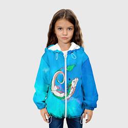 Детская 3D-куртка с капюшоном с принтом Унесенные призраками Хаку, цвет: 3D-белый, артикул: 10251836905458 — фото 2