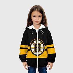 Детская 3D-куртка с капюшоном с принтом BOSTON BRUINS NHL, цвет: 3D-белый, артикул: 10260593305458 — фото 2