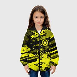 Куртка с капюшоном детская Borussia Dortmund цвета 3D-черный — фото 2