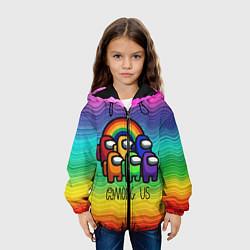 Куртка с капюшоном детская Among Us Радуга цвета 3D-черный — фото 2