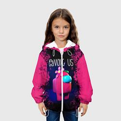 Куртка с капюшоном детская AMONG US цвета 3D-белый — фото 2