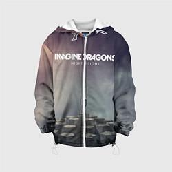 Куртка с капюшоном детская Imagine Dragons: Night Visions цвета 3D-белый — фото 1