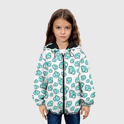 Куртка с капюшоном детская Бриллианты цвета 3D-черный — фото 2