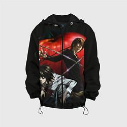 Куртка с капюшоном детская Тетрадь смерти цвета 3D-черный — фото 1