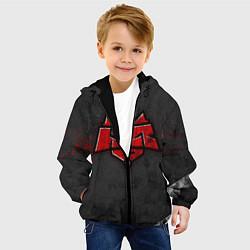 Детская 3D-куртка с капюшоном с принтом Hellraisers, цвет: 3D-черный, артикул: 10072069405458 — фото 2