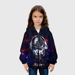 Куртка с капюшоном детская Love pirate station цвета 3D-черный — фото 2