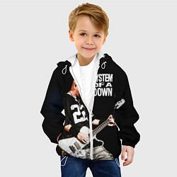 Куртка с капюшоном детская System of a Down цвета 3D-белый — фото 2