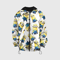 Детская 3D-куртка с капюшоном с принтом Minions Pattern, цвет: 3D-черный, артикул: 10073298805458 — фото 1
