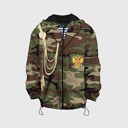 Куртка с капюшоном детская Униформа дембеля цвета 3D-черный — фото 1