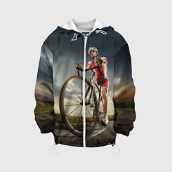 Куртка 3D с капюшоном для ребенка Велогонщик - фото 1