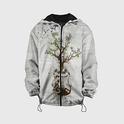 Куртка с капюшоном детская Three Days Grace: Tree цвета 3D-черный — фото 1