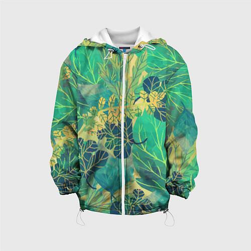 Детская куртка Узор из листьев / 3D-Белый – фото 1