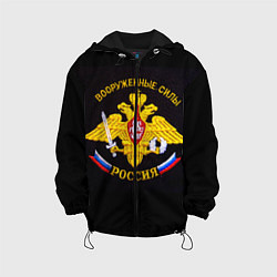 Детская куртка ВС России: вышивка