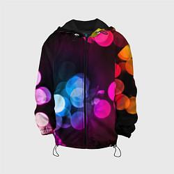 Детская 3D-куртка с капюшоном с принтом Light Spots, цвет: 3D-черный, артикул: 10085191405458 — фото 1