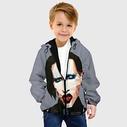 Куртка с капюшоном детская Mаrilyn Manson Art цвета 3D-черный — фото 2