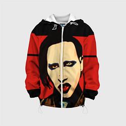 Куртка с капюшоном детская Mаrilyn Manson цвета 3D-белый — фото 1