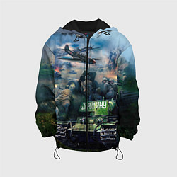 Детская 3D-куртка с капюшоном с принтом За родину, цвет: 3D-черный, артикул: 10090115905458 — фото 1