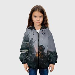 Куртка с капюшоном детская Солдаты цвета 3D-черный — фото 2