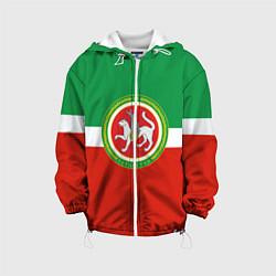 Куртка с капюшоном детская Татарстан: флаг цвета 3D-белый — фото 1
