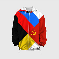 Детская 3D-куртка с капюшоном с принтом Вечная Россия, цвет: 3D-белый, артикул: 10096720705458 — фото 1