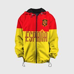 Куртка с капюшоном детская Сборная Испании: Евро 2016 цвета 3D-черный — фото 1