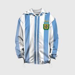Детская 3D-куртка с капюшоном с принтом Сборная Аргентины: ЧМ-2018, цвет: 3D-белый, артикул: 10098598705458 — фото 1