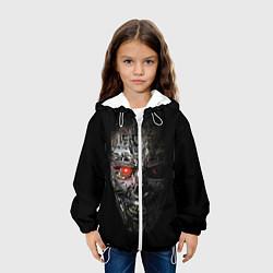 Куртка с капюшоном детская Terminator Skull цвета 3D-белый — фото 2