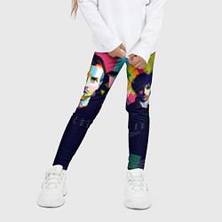 Леггинсы для девочки Coldplay цвета 3D-принт — фото 2