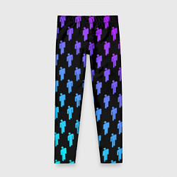 Леггинсы для девочки Billie Eilish: Neon Pattern цвета 3D-принт — фото 1