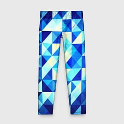 Детские леггинсы Синяя геометрия