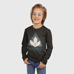 Лонгслив детский Cat цвета 3D — фото 2
