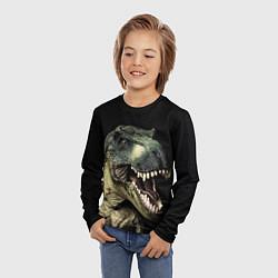 Лонгслив детский Динозавр T-Rex цвета 3D — фото 2