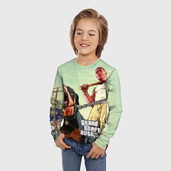 Лонгслив детский GTA 5: Franklin Clinton цвета 3D — фото 2