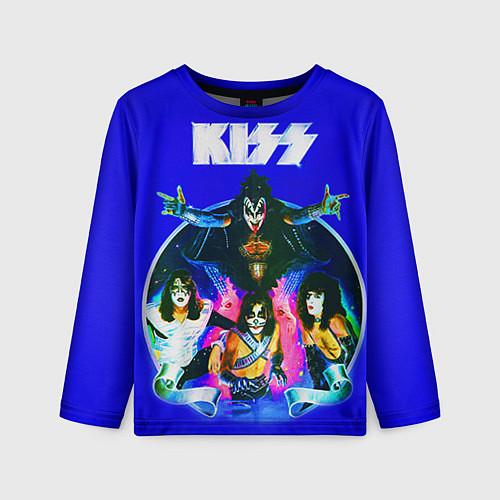 Детский лонгслив Kiss Show / 3D – фото 1