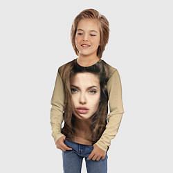 Лонгслив детский Анжелина Джоли цвета 3D — фото 2