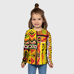 Лонгслив детский Африка цвета 3D-принт — фото 2