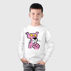 Лонгслив хлопковый детский Розовая пантера цвета белый — фото 2