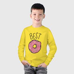 Лонгслив хлопковый детский Best friends цвета желтый — фото 2