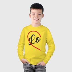 Лонгслив хлопковый детский Lo цвета желтый — фото 2