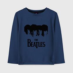 Лонгслив хлопковый детский The Beatles: Faces цвета тёмно-синий — фото 1
