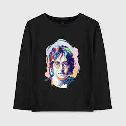 Лонгслив хлопковый детский John Lennon: Art цвета черный — фото 1