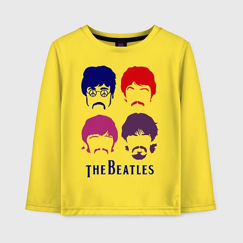 Детский лонгслив The Beatles faces / Желтый – фото 1