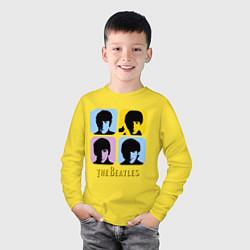 Лонгслив хлопковый детский The Beatles: pop-art цвета желтый — фото 2
