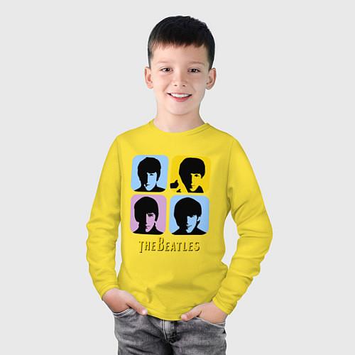 Детский лонгслив The Beatles: pop-art / Желтый – фото 3