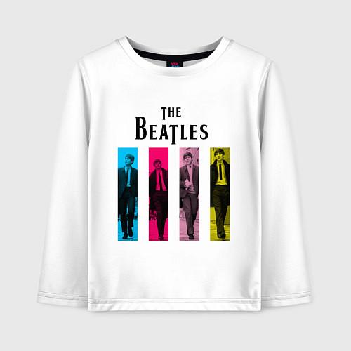 Детский лонгслив Walking Beatles / Белый – фото 1