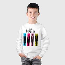 Лонгслив хлопковый детский Walking Beatles цвета белый — фото 2